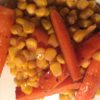 Honeyed garlic carrots with sweetcorn