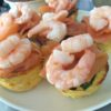Muffin frittata with smoked salmon and prawns